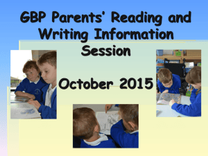 Reading and Writing Information Evening 2015