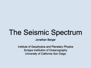 The Seismic Spectrum