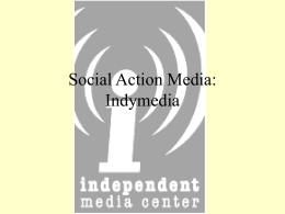 SocialActionMedia - Indymedia Documentation Project