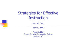Strategies for Effective Instruction - NC-NET