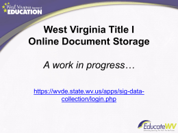 Online Program Documentation Processes Power Point