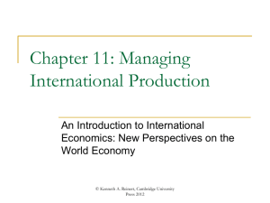 Managing International Production. - An Introduction to International