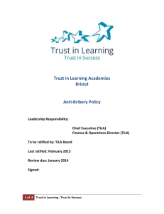 Trust in Learning Academies Bristol Anti