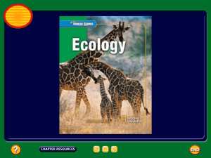 Chapter 1 Ecology Powerpoint