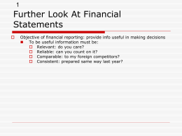 Chapter 2: Introduction to Financial Statements