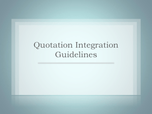 Quotation Integration Guidelines