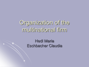 Organization of the multinational firm