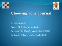 Writing for different learned journals.
