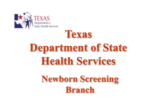 specimen - Texas Department of State Health Services
