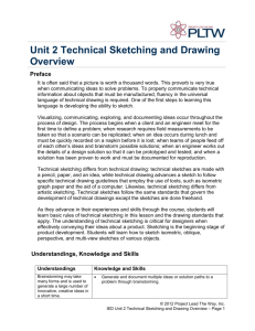 Unit 2 Technical Sketching and Drawing