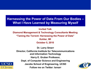 PPT - Larry Smarr - California Institute for Telecommunications and