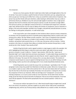 How To Write A Persuasive Essay Format On Compassion Rhetorical Analysis Migration Essay also Nursing Scholarship Essay Samples Barbara Ascher On Compassion Essay Essay On Carbon