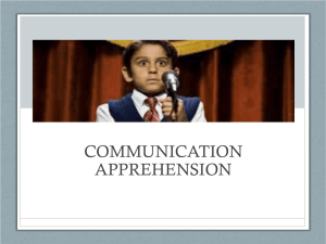 Communication Apprehension (updated 2/17)