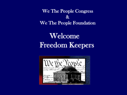 THE PROBLEM - We The People Foundation