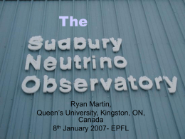 Solar Neutrinos and the SNO Experiment