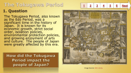 The Tokugawa Period - Baltimore County Public Schools