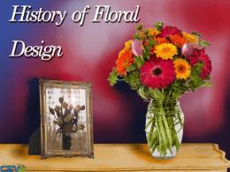 History Of Floral Design