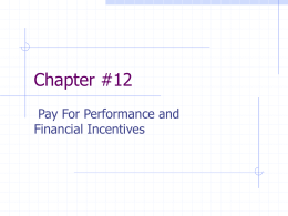 Chapter #12 - UCO College of Business