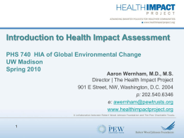 Environmental health and chronic disease
