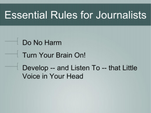 Michelle's 3 Key Rules for New Journalists