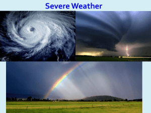 Severe Weather Lesson