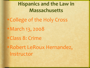 Crime - College of the Holy Cross