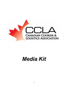 Table Of Contents - Canadian Courier & Logistics Association