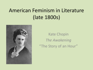 American Feminism in Literature (late 1800s)