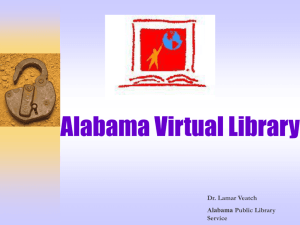 AVL Overview - The Alabama Virtual Library