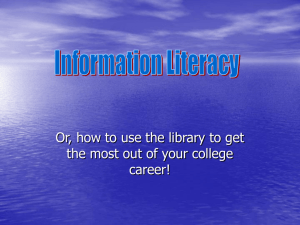MTCC Information Literacy Introductory Tutorial