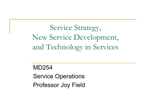 Service Strategy, New Service Development, and Technology in