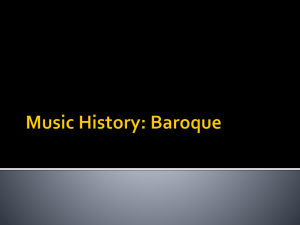 Baroque Music History