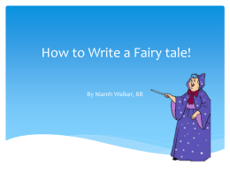How to Write a Fairy tale!
