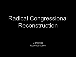 Radical Congressional Reconstruction