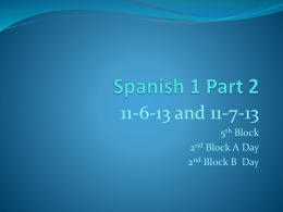 Spanish 1 Part 2 - christycalloway