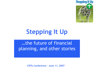 Cary List - FPSC Stepping it Up - the new CFP Competency