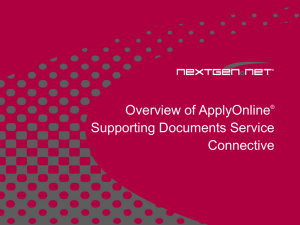 ApplyOnline Supporting Documents Service