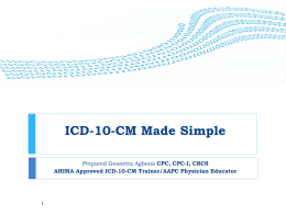 Implementing ICD-10-CM Training At WestMed