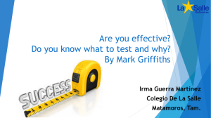 Are you effective? Do you know what to test and why?