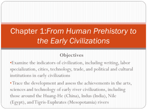Chapter 1:From Human Prehistory to the Early Civilizations