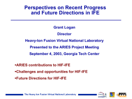 Power Point - Fusion Energy Research Program