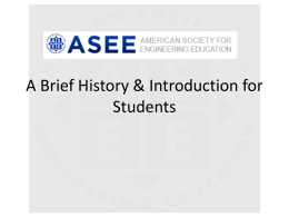PPT - ASEE Student Division