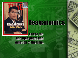 Reaganomics - World of Teaching