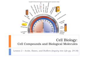 Cell Compounds and Biological Molecules - TangHua2012-2013