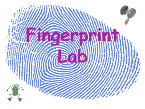 Fingerprint Lab Problem: Which is the most common type of
