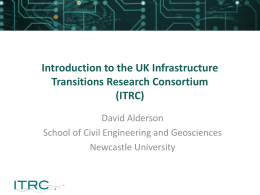 Introduction to the UK Infrastructure Transitions Research Consortium