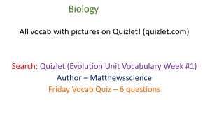 Evolution Vocab Evolution Vocab