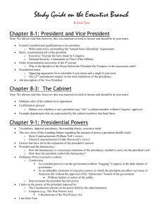 Chapter 9-2: Role of the President