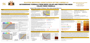 Determining Formula From Beer Color and Predicting