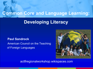 Common Core and Language Learning